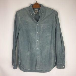 Lands End | Men's Canvas Blue Button Down Shirt